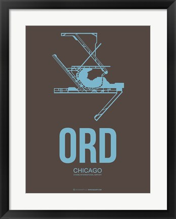 Framed ORD Chicago 2 Print