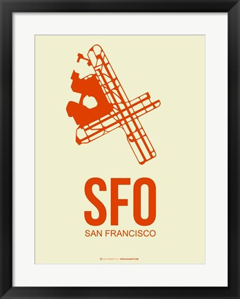 Framed SFO San Francisco 1 Print