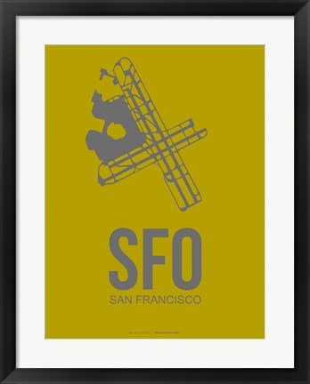 Framed SFO San Francisco 3 Print
