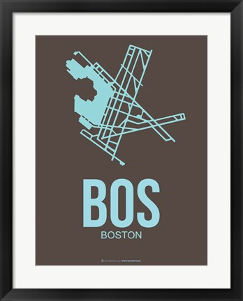 Framed BOS Boston 2 Print
