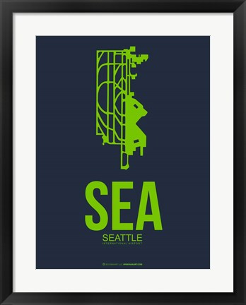Framed SEA Seattle 2 Print