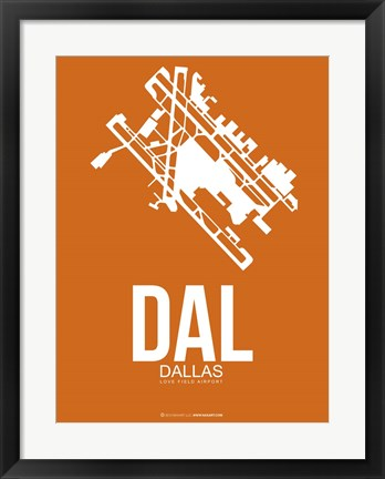 Framed DAL Dallas 2 Print