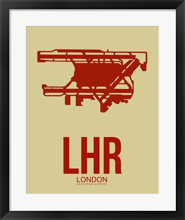 Framed LHR London 1 Print