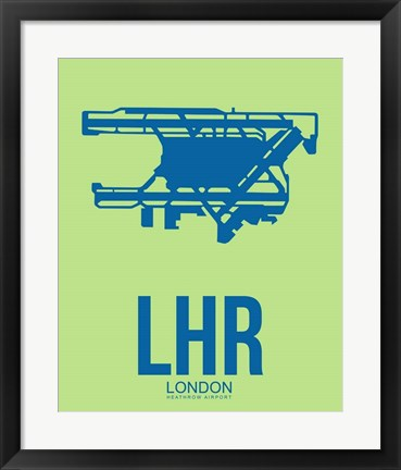Framed LHR London 2 Print
