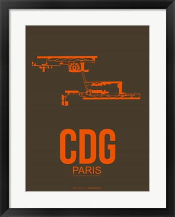 Framed CDG Paris 3 Print