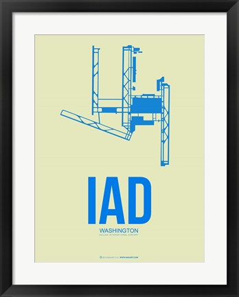 Framed IAD Washington 1 Print