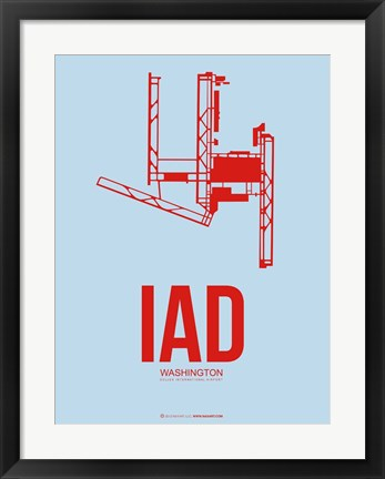 Framed IAD Washington 2 Print