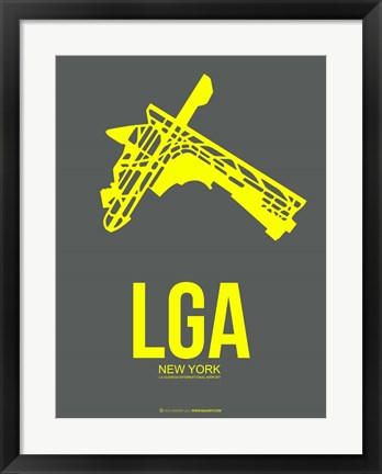 Framed LGA New York 1 Print