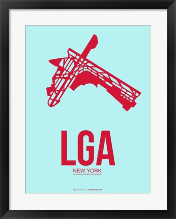 Framed LGA New York 2 Print