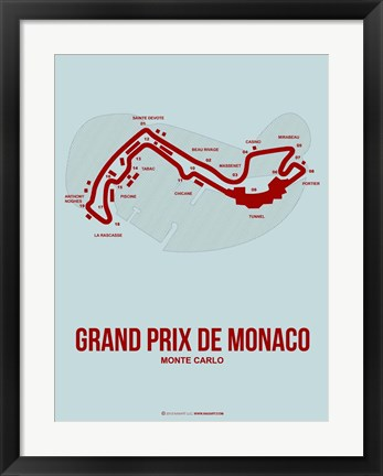 Framed Monaco Grand Prix 3 Print