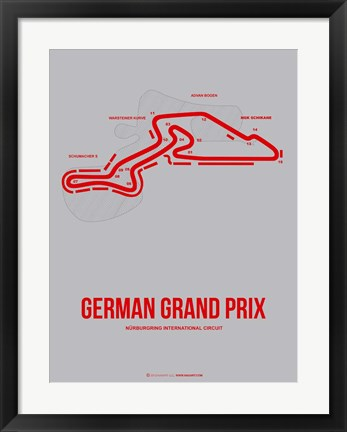 Framed German Grand Prix 1 Print