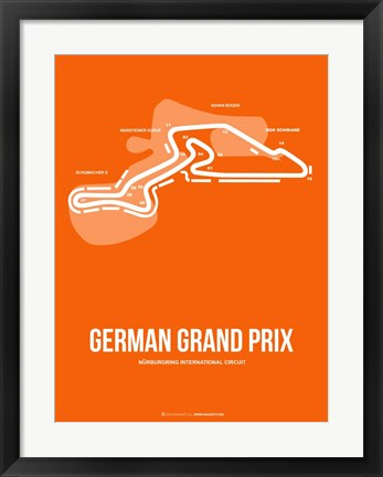 Framed German Grand Prix 3 Print