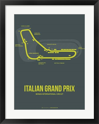 Framed Italian Grand Prix 2 Print