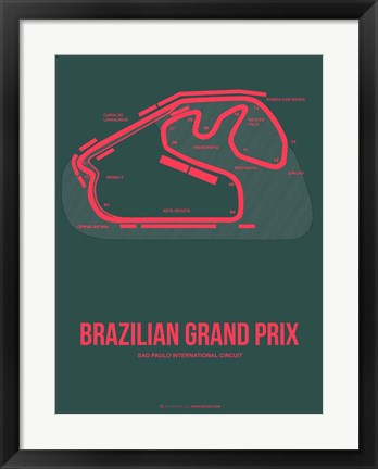Framed Brazilian Grand Prix 2 Print