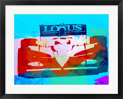 Framed Lotus F1 Racing Print