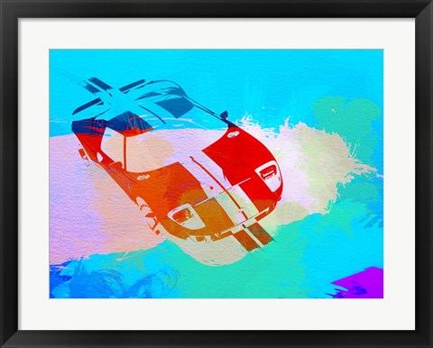 Framed Ford GT Watercolor Print