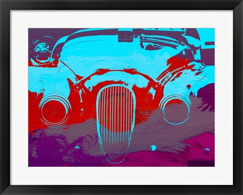 Framed Jaguar Front End Print