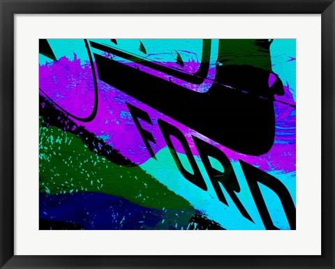 Framed Ford Racing Print