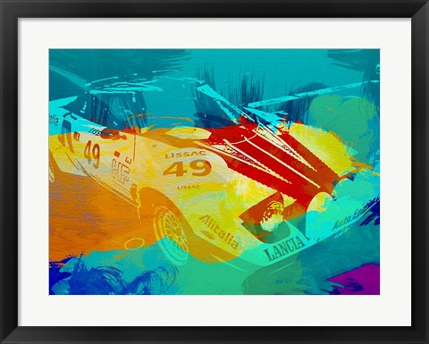 Framed Lancia Stratos Watercolor 1 Print