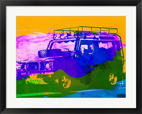 Framed Land Rover Defender Print