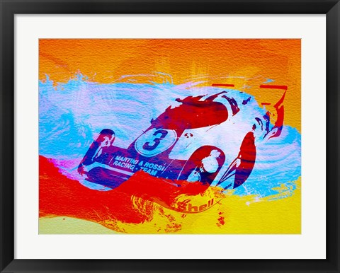 Framed Porsche 917 Martini and Rossi Print