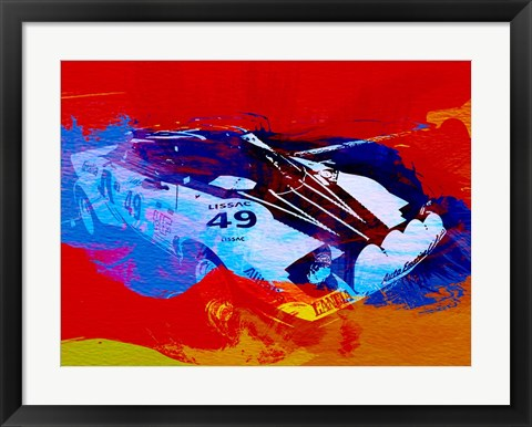 Framed Lancia Stratos Watercolor 2 Print