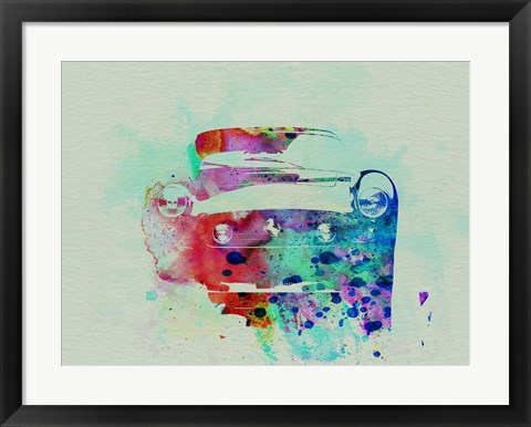 Framed Ferrari Front Watercolor Print