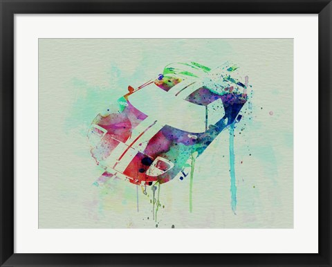 Framed Ford GT Top Watercolor Print