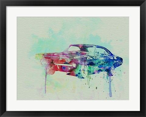 Framed 1967 Dodge Charger  2 Print