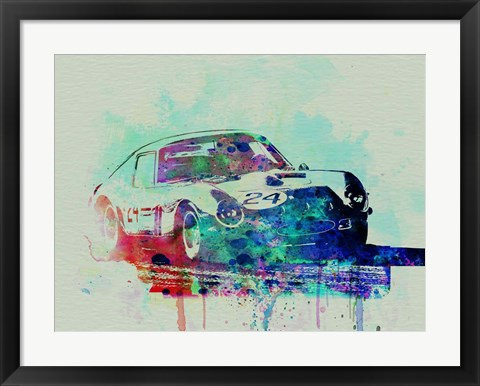 Framed Ferrari 250 GTB Racing Print