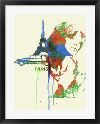 Framed Paris Romance Print