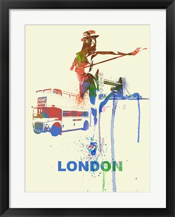 Framed London Romance Print