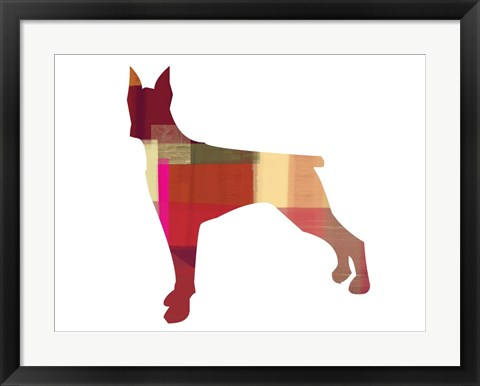 Framed Doberman Pinscher 1 Print