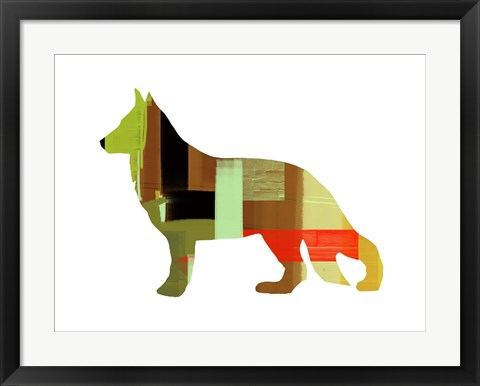 Framed German Shepard 2 Print