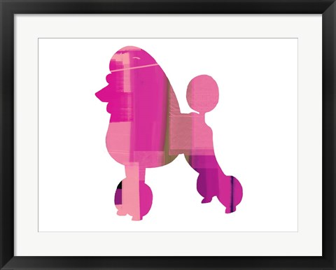 Framed French Poodle Print