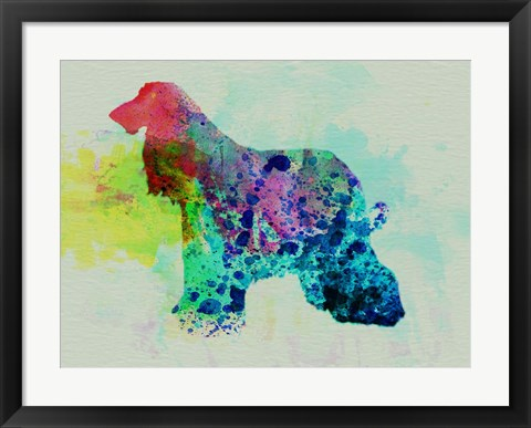 Framed Afghan Hound Watercolor Print