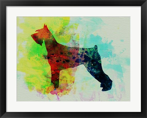 Framed Giant Schnauzer Watercolor Print