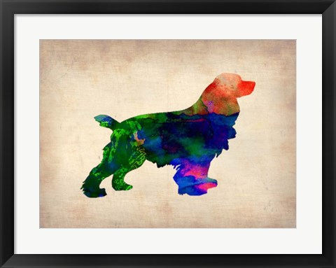 Framed Spaniel Watercolor Print