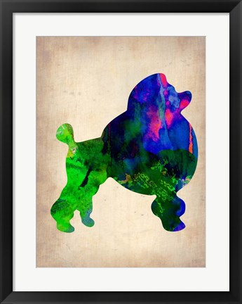 Framed French Poodle Watercolor Print