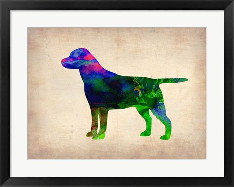 Framed Labrador Retriever Watercolor Print