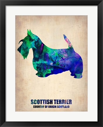 Framed Scottish Terrier 2 Print