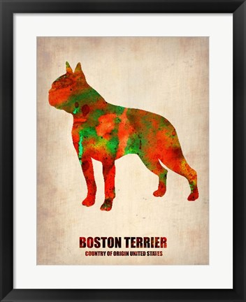 Framed Boston Terrier Print