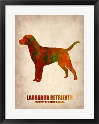 Framed Labrador Retriever Print