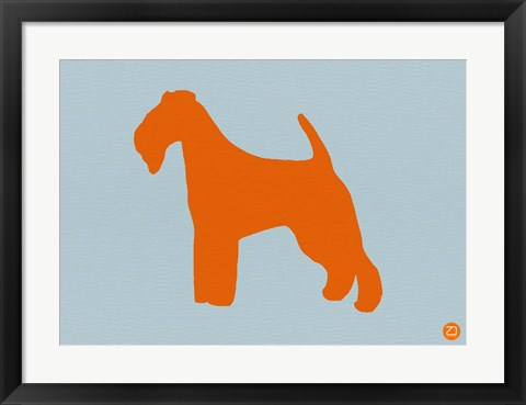 Framed Fox Terrier Orange Print