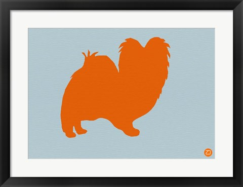 Framed Papillion Orange Print