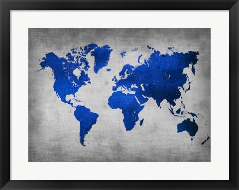 Framed World  Map 10 Print
