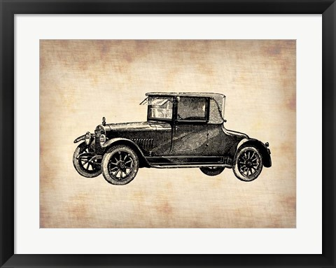 Framed Classic Old Car 3 Print