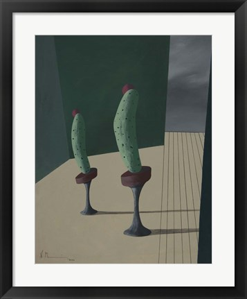 Framed Mr. and Ms. Cucumber Print