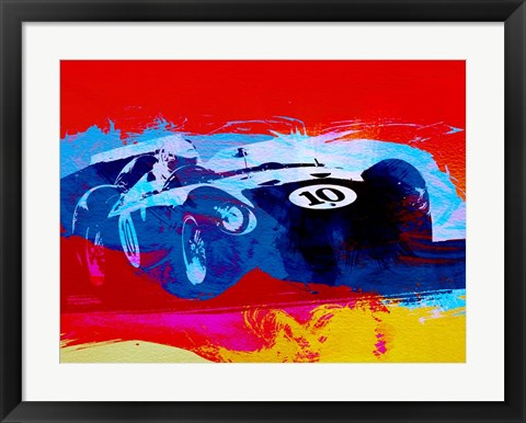 Framed Maserati on the Race Track 1 Print