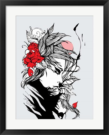 Framed Love Flovers Print